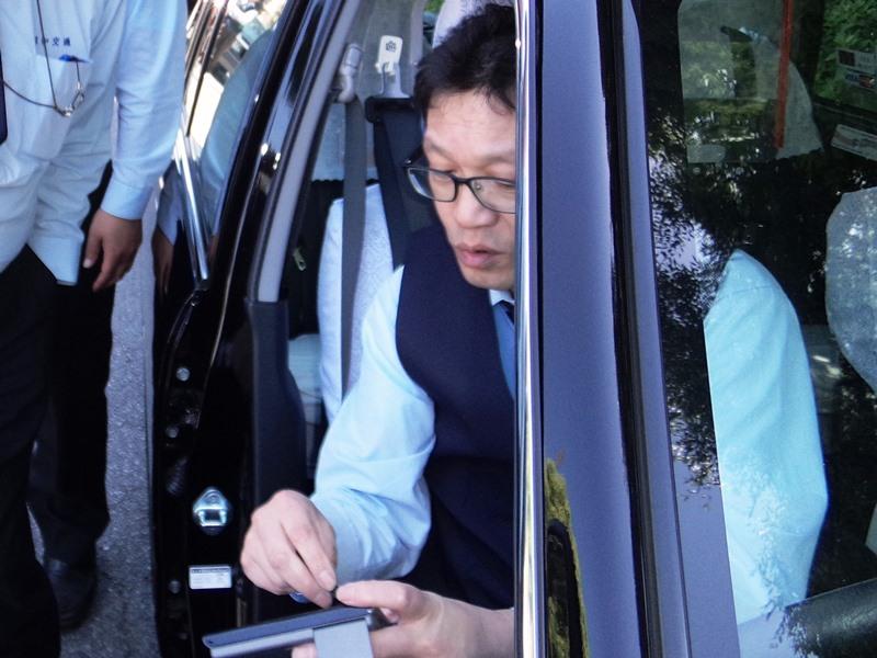 乗務中の島田さん